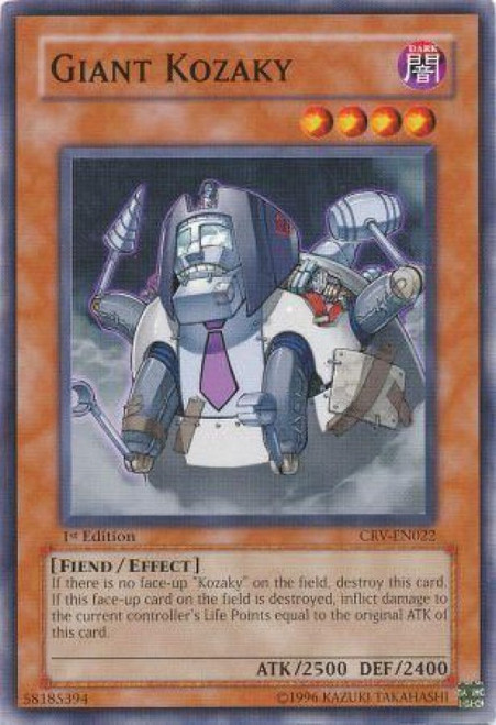 YuGiOh Cybernetic Revolution Common Giant Kozaky CRV-EN022