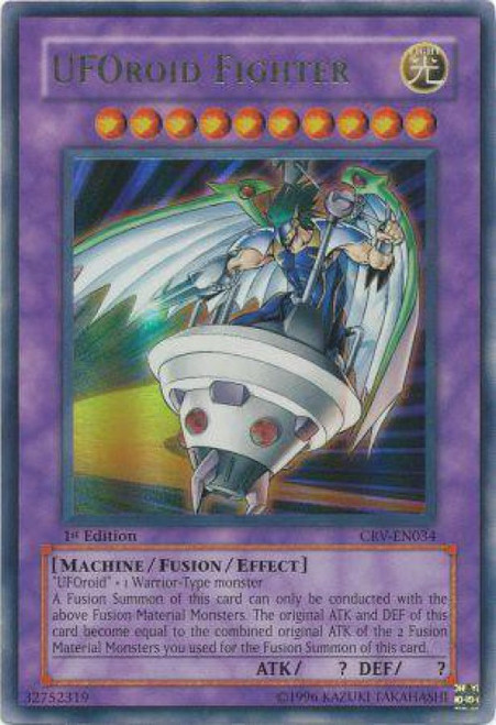 YuGiOh Cybernetic Revolution Ultra Rare UFOroid Fighter CRV-EN034