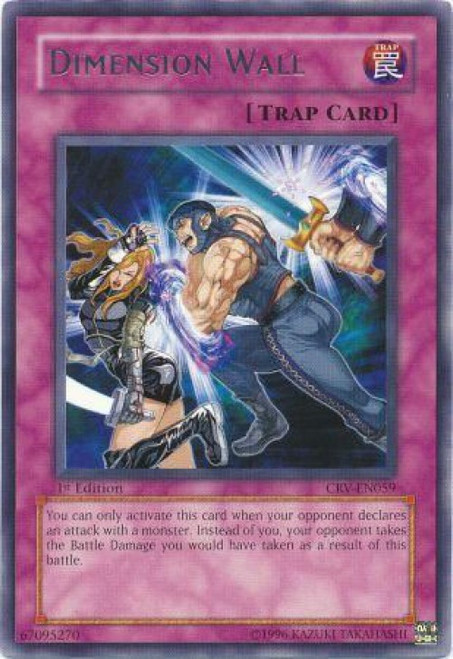 YuGiOh Cybernetic Revolution Rare Dimension Wall CRV-EN059