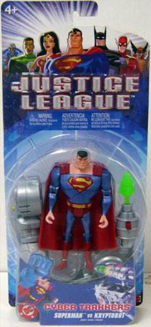 Justice League Cyber Trakkers Superman vs. Kryptobot Action Figure