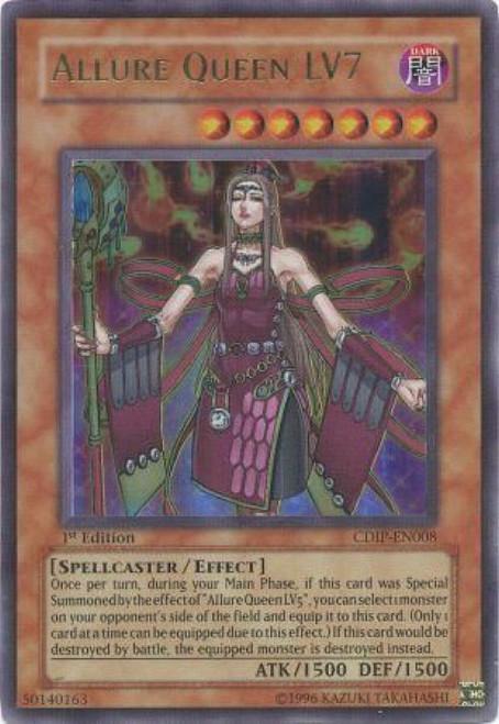 YuGiOh GX Trading Card Game Cyberdark Impact Ultra Rare Allure Queen LV7 CDIP-EN008