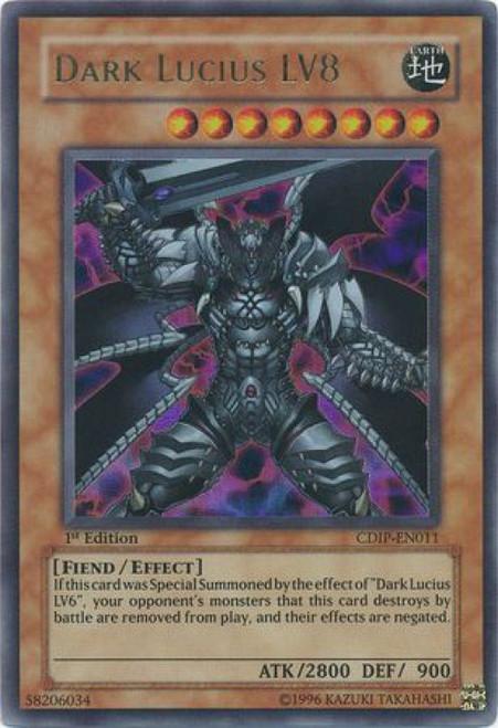 YuGiOh GX Trading Card Game Cyberdark Impact Ultra Rare Dark Lucius LV8 CDIP-EN011