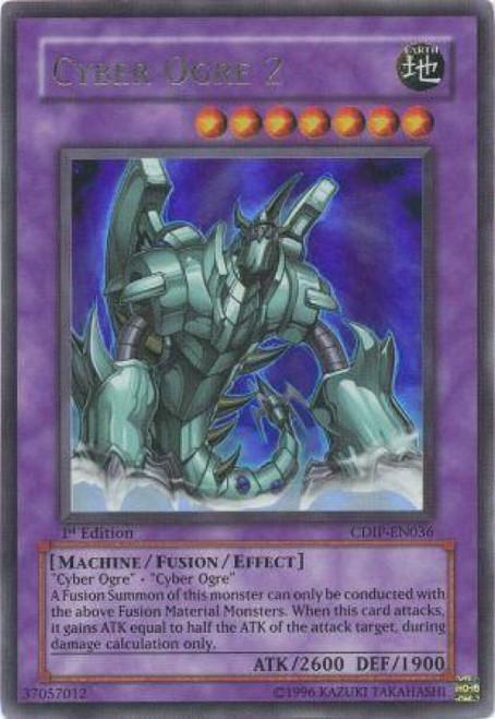 YuGiOh GX Trading Card Game Cyberdark Impact Ultra Rare Cyber Ogre 2 CDIP-EN036