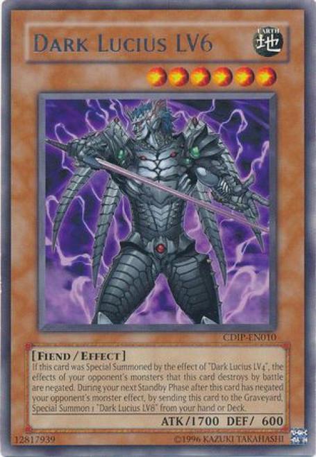 YuGiOh GX Trading Card Game Cyberdark Impact Rare Dark Lucius LV6 CDIP-EN010