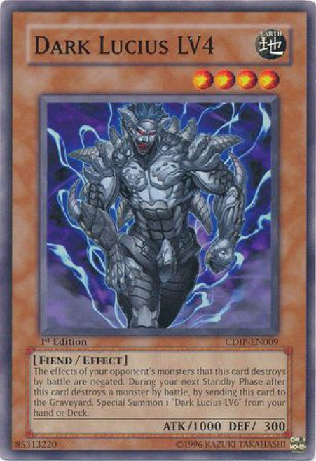 YuGiOh GX Trading Card Game Cyberdark Impact Common Dark Lucius LV4 CDIP-EN009