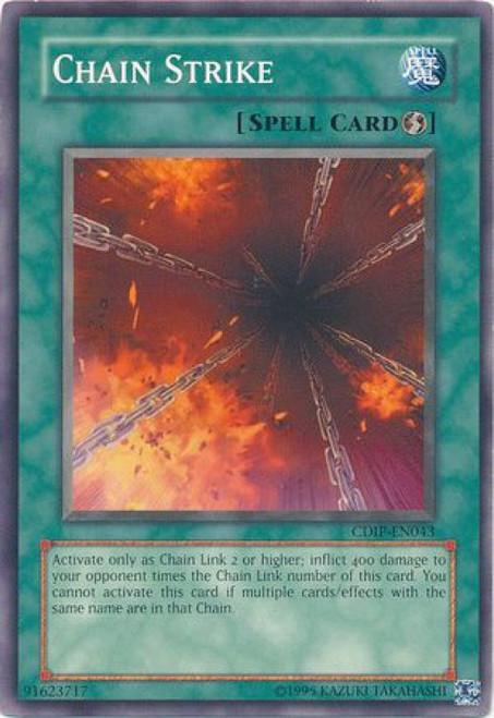 YuGiOh GX Trading Card Game Cyberdark Impact Common Chain Strike CDIP-EN043