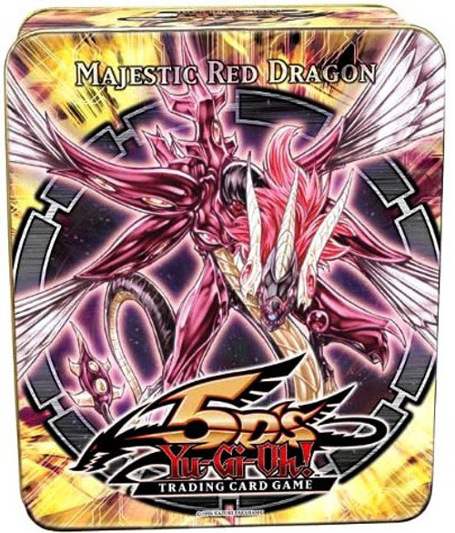 YuGiOh 5D's Trading Card Game 2010 Majestic Red Dragon Tin Set [5 Booster Packs & 5 Super Rare Cards!]