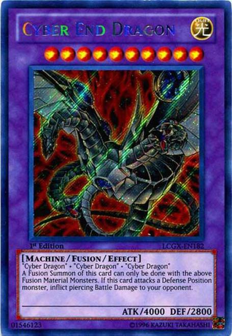 YuGiOh GX Trading Card Game Legendary Collection 2 Secret Rare Cyber End Dragon [Alternate Art] LCGX-EN182