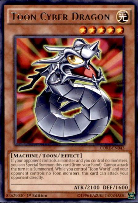 YuGiOh Clash of Rebellions Rare Toon Cyber Dragon CORE-EN043