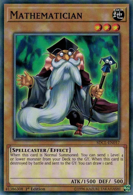 YuGiOh Structure Deck: Cyberse Link Common Mathematician SDCL-EN017