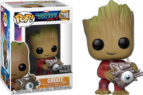 Funko Guardians of the Galaxy Vol. 2 POP! Marvel Groot Exclusive Vinyl Bobble Head #280 [with Cyber Eye]