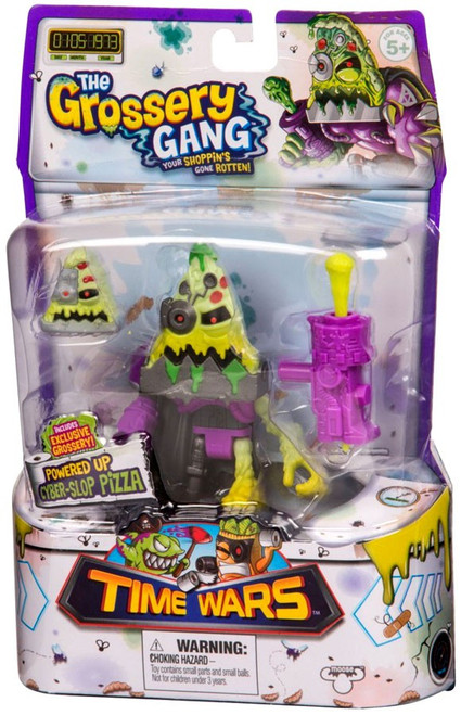 The Grossery Gang Series 5 Time Wars Powered Up Cyber-Slop Pizza Action Figure