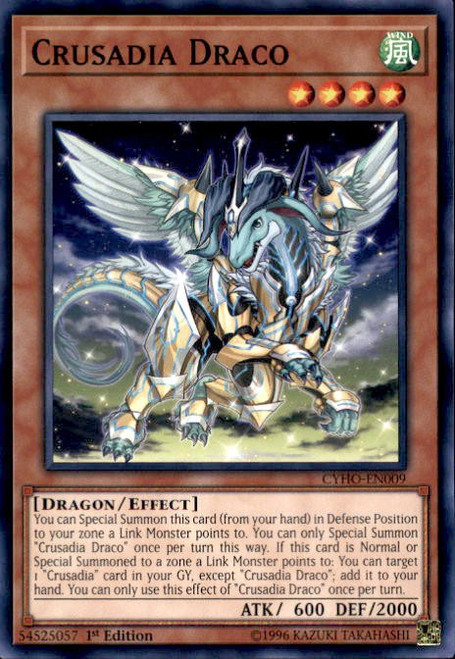 YuGiOh Cybernetic Horizon Common Crusadia Draco CYHO-EN009