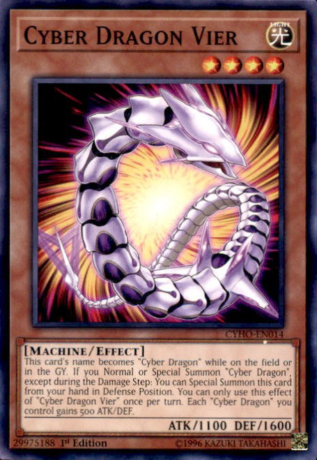 YuGiOh Cybernetic Horizon Common Cyber Dragon Vier CYHO-EN014