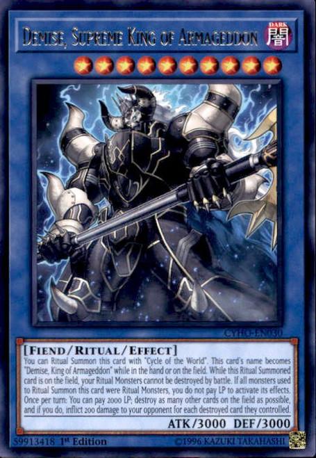 YuGiOh Cybernetic Horizon Rare Demise, Supreme King of Armageddon CYHO-EN030