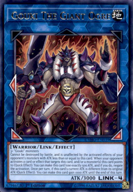 YuGiOh Cybernetic Horizon Rare Gouki The Giant Ogre CYHO-EN039