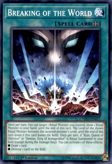 YuGiOh Cybernetic Horizon Common Breaking of the World CYHO-EN057