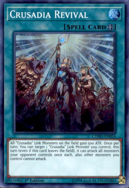 YuGiOh Cybernetic Horizon Super Rare Crusadia Revival CYHO-EN054