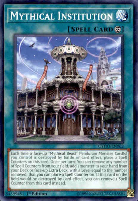 YuGiOh Cybernetic Horizon Common Mythical Institution CYHO-EN062