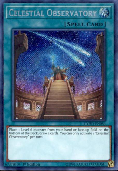 YuGiOh Cybernetic Horizon Secret Rare Celestial Observatory CYHO-EN064