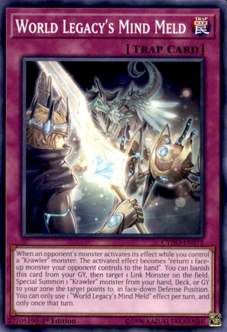 YuGiOh Cybernetic Horizon Common World Legacy's Mind Meld CYHO-EN075