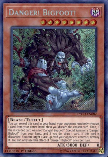YuGiOh Cybernetic Horizon Secret Rare Danger! Bigfoot! CYHO-EN082