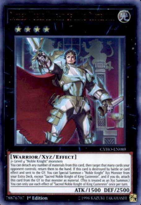 YuGiOh Cybernetic Horizon Ultra Rare Sacred Noble Knight of King Custennin CYHO-EN089