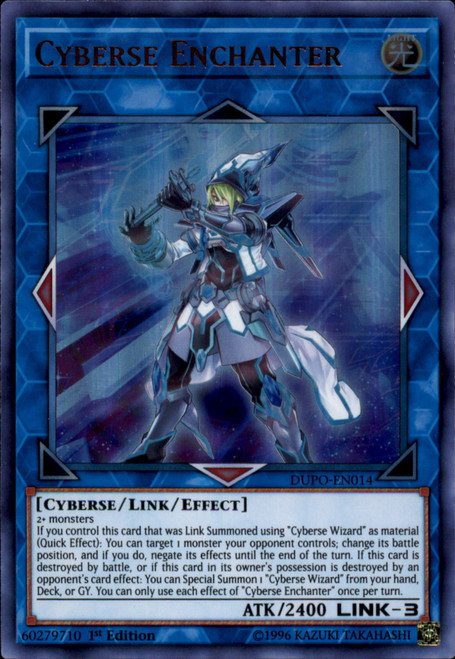 YuGiOh Duel Power Ultra Rare Cyberse Enchanter DUPO-EN014