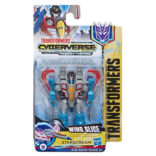 Transformers Cyberverse Power of the Spark Starscream Scout Action Figure [Wing Slice]