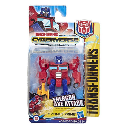 Transformers Cyberverse Power of the Spark Optimus Prime Scout Action Figure [Energon Axe Attack]