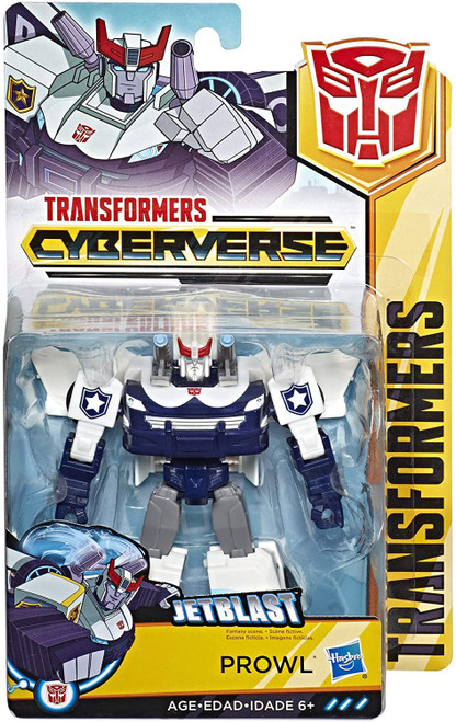 Transformers Cyberverse Power of the Spark Prowl Warrior Action Figure [Jetblast]