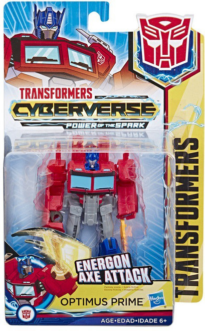 Transformers Cyberverse Power of the Spark Optimus Prime Warrior Action Figure [Energon Axe Attack]
