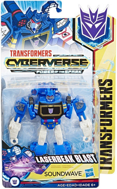 Transformers Cyberverse Power of the Spark Soundwave Warrior Action Figure [Laserbeak Blast]
