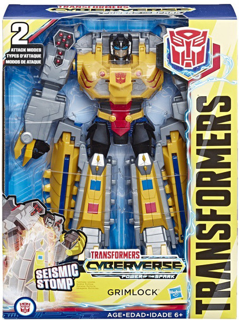Transformers Cyberverse Power of the Spark Grimlock Ultimate Action Figure [Seismic Stomp]
