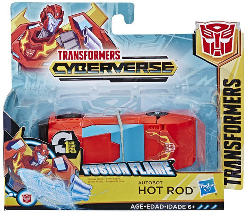 "Transformers Cyberverse 1 Step Changer Hot Rod 4.25"" Action Figure [Fusion Flame]"