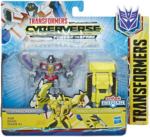 Transformers Cyberverse Power of the Spark Spark Armor Starscream Battle Class Action Figure [Demolition Destroyer]