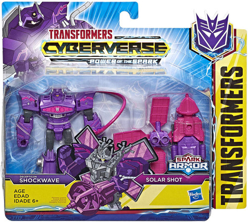 Transformers Cyberverse Power of the Spark Spark Armor Shockwave Battle Class Action Figure