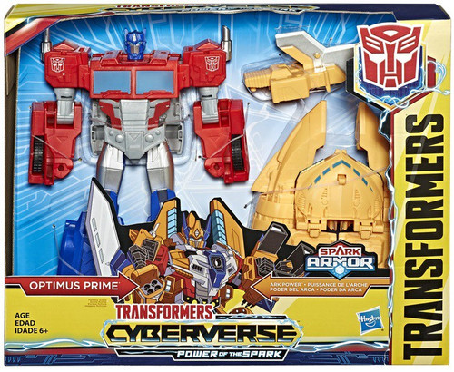 Transformers Cyberverse Power of the Spark Spark Armor Optimus Prime Battle Class Action Figure [Ark Power]