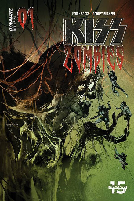 Dynamite Entertainment Kiss Zombies #1 Comic Book [Cover B Sayger Variant]