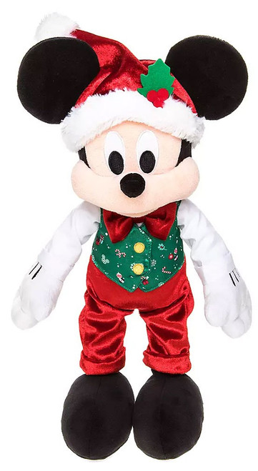 Disney 2019 Holiday Mickey Mouse Exclusive 15-Inch Plush [Green Vest]