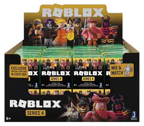 Roblox Celebrity Collection Series 4 Mystery Box [Green Cube, 24 Packs]