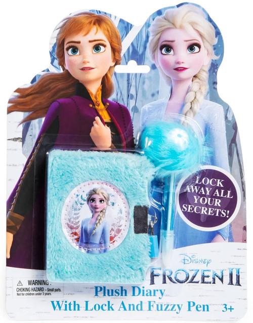 Disney Frozen Frozen 2 Plush Diary with Lock & Fuzzy Pen