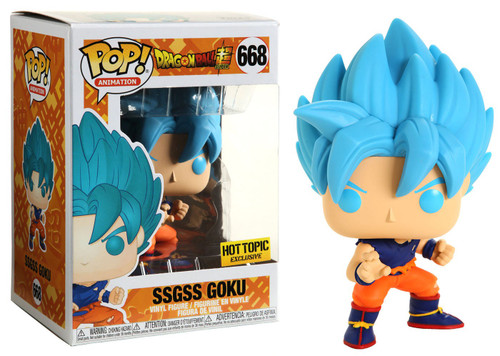 Funko Dragon Ball Z POP! Animation SSGSS Goku Exclusive Vinyl Figure #668