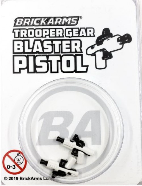 BrickArms Trooper Gear Blaster Pistols (x2) Minifigure Accessory [Overmolded]