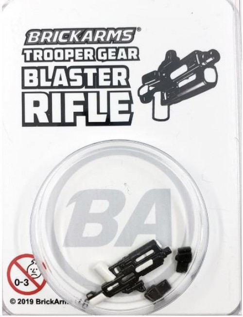 BrickArms Trooper Gear Blaster Rifle Minifigure Accessory [Overmolded]