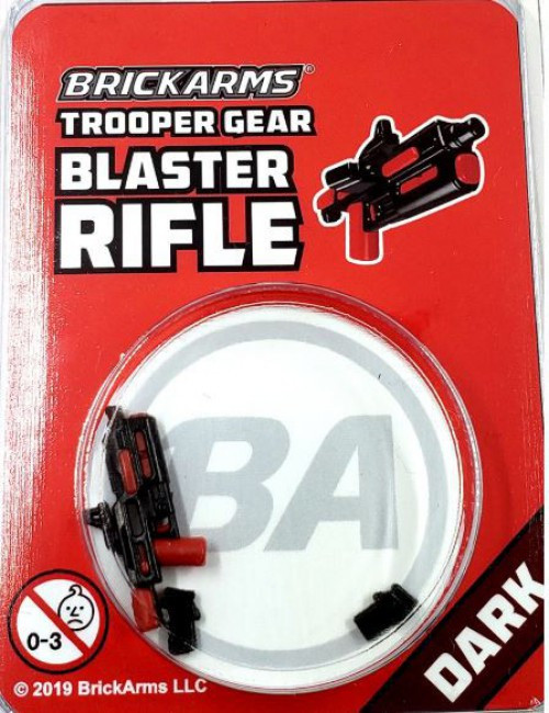 BrickArms Trooper Gear Blaster Rifle Minifigure Accessory [Dark, Overmolded]