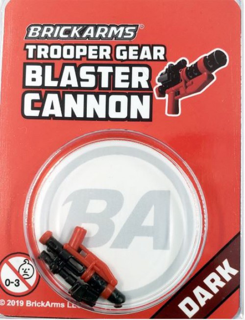 BrickArms Trooper Gear Blaster Cannon Minifigure Accessory [Dark, Overmolded]