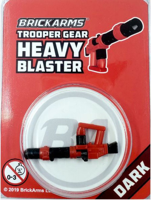 BrickArms Trooper Gear Heavy Blaster Minifigure Accessory [Dark, Overmolded]