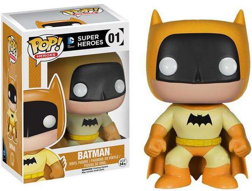 Funko DC Super Heroes POP! Heroes Batman Exclusive Vinyl Figure #01 [75th Anniversary Yellow Rainbow, Damaged Package]