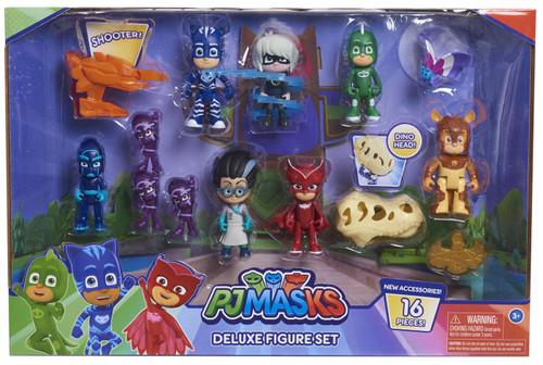 Disney Junior PJ Masks Deluxe Figure 10-Pack Set [16 Pieces!]